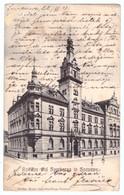 R1 Romania Rathaus Und Sparkassa In Suczawa Sucevava Bukowina 1907 Kerns Papierhandlung - Rumania