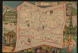 Les Arrondissements De Paris Illustrés - 9e - IXe Arrondissement - L'Opéra - Plan - Edit. Blondel La Rougery 1946 - District 09