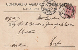 A35. Cava Dei Tirreni.  1917. Annullo Guller CAVA DEI TIRRENI (SALERNO), Su Cartolina Postale PUBBLICITARIA - Marcophilie