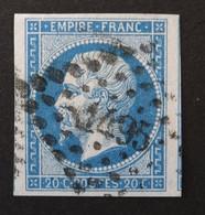 14B TB Margé, 2 Voisins, Variété Filet NO, Obl PC 1495 Le Havre (74 Seine Inférieure ) Ind 1 - 1853-1860 Napoleon III