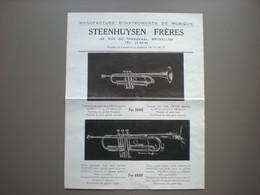 BRUSSEL - BRUXELLES - Steenhuysen Frères - Muziek - Musique - Trompet - Trompette - 1900 – 1949