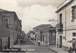 BOVALINO MARINA-REGGIO CALABRIA-CORSO UMBERTO-INSEGNA =VESPA=CARTOLINA VERA FOTOGRAFIA VIAGGIATA IL 27-2-1961 - Reggio Calabria