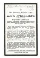 Doodsprentje Oorlogsslachtoffer Zandvoorde + Mannekesvere 18 Oktober 1914 - Andachtsbilder