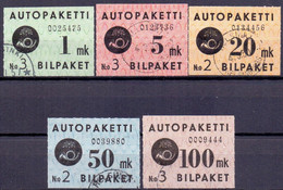 FINLAND 1949-50 Autopakettezegels Serie GB-USED - Paketmarken