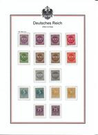 Deutsches Reich 1923 Lot 268 - 276 Farben! - Ungebraucht