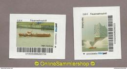 BRD - Privatpost - Biberpost - 2 Werte Feuerwehr Fire - Feuerwehrschiff Hafen Hamburg - Firemen