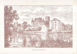 Dépt 77 - Château De NEMOURS - Gravure 20 X 28 Cm - Nemours