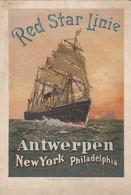 Red Star Line    Antwerpen  New York  Philadelphia - Antwerpen