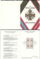 France - 1965 Croix De Guerre - Ltd Edition Folder & Maxicard - FDI Postmark - Covers & Documents
