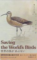 TC JAPON / 110-79247 - Série 2 SAVE THE BIRDS 4/16 - OISEAU - COURLIS ESQUIMAU - CURLEW BIRD JAPAN Pc - 5371 - Otros