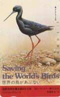 TC JAPON / 110-104735 Série 2 SAVE THE BIRDS 12/16 - OISEAU - ECHASSE NOIRE - BLACK STILT BIRD JAPAN PC - 5373 - Otros