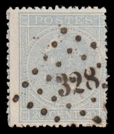 """COB 18 - Obl. Losange De Points - Pt N° 328 """"St NICOLAS"""" - 1865-1866 Profil Gauche"""