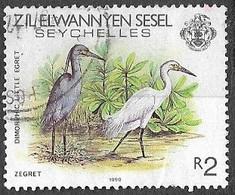 Seychelles South Islands  1990   Sc#100b    R2  Egrets   Used  2016 Scott Value $7.50 - Seychelles (1976-...)