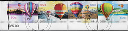 AUSTRALIA 2008 Hot Air Balloons Up And Away Set Se-tenant Strip CTO Sheet - Blocchi & Foglietti