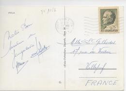 YOUGOSLAVIE YT 1156 Sur Carte Postale Entière Colisée De PULA  Datée Du 18.07.1978 ( Lot B) - Unclassified