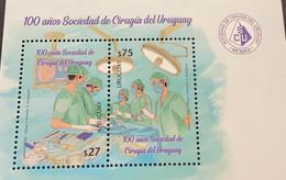 A) 2020, URUGUAY, NATIONAL SOCIETY OF SURGERY, MNH, 100 YEARS OF COMPANY, MINISHEET - Uruguay