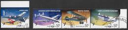 AUSTRALIA 2008 Aviation Aeroplanes Set Se-tenant Strip CTO Sheet - Aerei