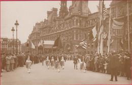 GUERRE 1914-18 AMERICAN LEGION PARIS DEFILE HOTEL DE VILLE - Guerre 1914-18