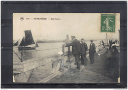 5909. DUNKERQUE . LES JETEES  . RECTO/VERSO . ANIMEE .  VOILIER  . 1914 - Dunkerque