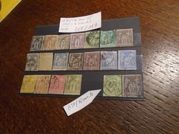 LOT De Timbres Au Type SAGE ( 18 N Sous U + 2 N Sous B)   Bon ETAT !!!   + 3  Photos - 1876-1898 Sage (Type II)