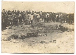 PLANE FLUG COLLAPSED, PILOT DEATH, REAL PHOTO, 110 X 80 Mm - 1914-1918: 1ra Guerra