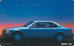 Télécarte JAPON / 110-011 - VOITURE - BMW 740 I - CAR JAPAN Phonecard - AUTO TK / Germany - 3436 - Cars