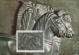 CARTE MAXIMUM 1966 CRATERE DE VIX - 1960-69