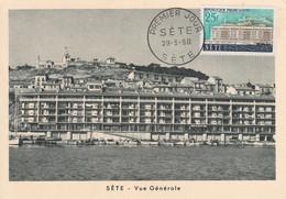 CARTE MAXIMUM 1958 SETE HERAULT - 1950-59