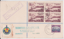 Tekwini Elingane South Africa Registered Mail Cover Durban Label Anchor Ancre Marine Lettre Afrique Du Sud - Cartas