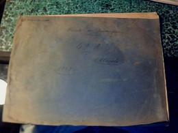 Vieux Papier Administratif Registre Contributions Directe Alcools  Puisserguier 1925 ( En Partie Non Rempli) - Non Classificati