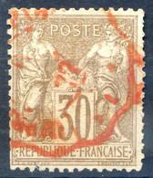 France N°69 (N/B) OBL Rouge Des Imprimés - (F1863) - 1876-1878 Sage (Tipo I)
