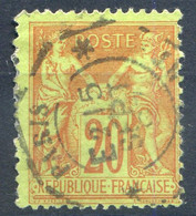 France N°96 - TAD Levée Exceptionnelle - (F1865) - 1876-1898 Sage (Type II)