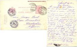 ROUMANIE ENTIER CARTE POSTALE OBLITÉRATION DAGUIN JUMELÉ BUCARESTI 19 MAR 06 Pour CONSTANTINE ALGÉRIE - Enteros Postales