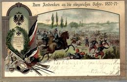 AK-90515    - Andenken An Die Siegreichen Jahre 1870-1871  - Sammelpostkarte Dt. Kriegerbund - - Other Wars