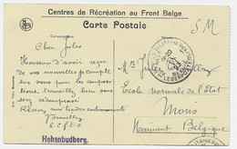 CREFELD GERMANY CARTE CENTRES DE RECREATION AU FRONT BELGE HOHENBUDBERG + POSTES MILITAIRES - Armada Belga