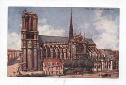 Illustration   -  Paris  -  Notre - Dame  -  Facade  Sud    -  Tuck - Notre-Dame De Paris