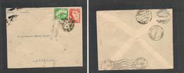 123gone. Peru Cover - 1939 Cuzco To Lumbier Pamplona España Fkd Env+ Spain Civil War Censor Cachet , Very Scarce, Revers - Perù
