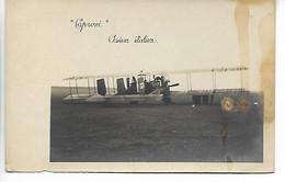AVIATION Avion Aviateur Carte Photo CAPRONI Avion Italien Italie  2 Scans ..G - ....-1914: Precursores