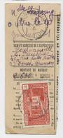 REUNION 2FR SEUL COIN ARRONDI TALON MANDAT SAINT DENIS 18.12.1944 RARE - Cartas