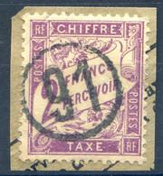 France Taxe N°42 Oblitéré 91 Dans Un Cercle, Sur Fragment - (F1890) - 1859-1955 Gebraucht