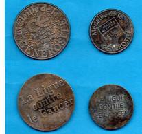 """2 """" Médailles De La Générosité """"- Ligue Contre Contre Cancer- - Unclassified"""