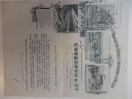 Très Belle Lettre De La Manufacture D'instruments De Musique Couesnon & Cie à Paris E 1895 à Mr Labey à Neufchâtel (76) - 1800 – 1899