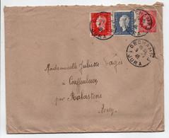 - Lettre ORCHAMPS (Jura) Pour COUFFOULEUX Par RABASTENS (Tarn) 5.2.1946 - Bel Affranchissement Philatélique - - Covers & Documents