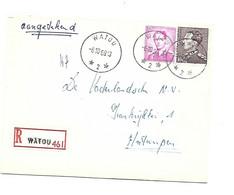 Recom. Sterstempel / Cachet Etoile  *  WATOU 2 * 1969 + WATOU   Boudewijn MARCHAND + POORTMAN - Briefe U. Dokumente