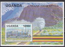Uganda 1991 - Mi.Nr. Block 135 - Postfrisch MNH - Eisenbahnen Railways Lokomotiven Locomotives - Trains