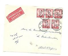 Sterstempel / Cachet Etoile  *  KLERKEN  *  1954  Boudewijn Marchand 5 X 2fr   Voorzijde Brief/devant De Lettre - Briefe U. Dokumente