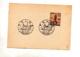 Carte Cachet Fulda 1200 Ans - Brieven En Documenten