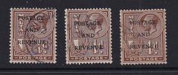Malta: 1928   KGV 'Postage & Revenue' OVPT    SG174   ¼d     Used (x3) - Malte (...-1964)