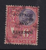 Malta: 1928   KGV 'Postage & Revenue' OVPT    SG185   6d     Used - Malte (...-1964)