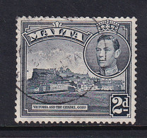 Malta: 1938/43   KGVI     SG221    2d   Slate-black    Used - Malte (...-1964)